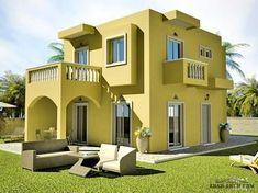 مخطط فيلا صغيرة المساحه البلانات المبانى للدور الارضى 65 متر مربع Arab Arch House Layouts Family House Plans House Layout Plans