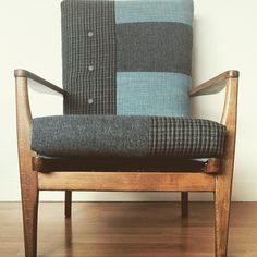 Brodie - upholstered Parker Knoll armchair. Box seat without piping