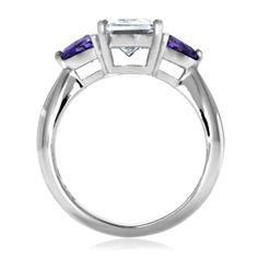Emerald Cut Engagement Rings Amethyst 16