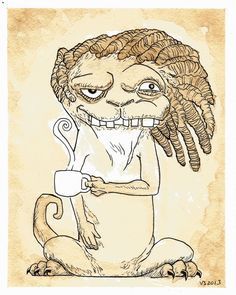 Randolph by vonnbriggs painted with coffee