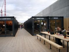 BOXPARK | SHOREDITCH | LONDON BOROUGH OF HACKNEY | LINDON | ENGLAND: *Boxpark: Pop-Up Shopping Mall [Container Architecture]*
