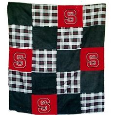 NCSU NC State Wolfpack Patchwork Quilt Blanket