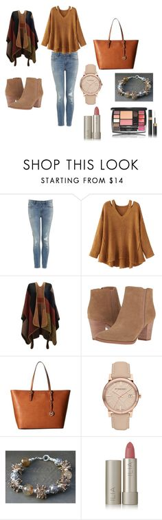 """#fashinoMood"" by eliza147 ❤ liked on Polyvore featuring WithChic, Franco Sarto, MICHAEL Michael Kors, Burberry and Ilia"