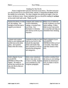 This product is my answer to fifth grade reading logs.  I find reading logs to be somewhat inauthentic - I know as an adult, I don't record the num...