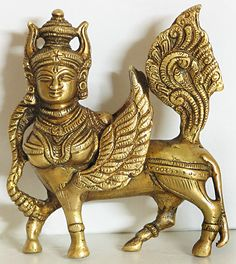 Kamdhenu - The Sacred Hindu Cow. Mother to mankind for her endless giving of resources and nourishment. 3 horns of the gods, face symbolizes the sun and moon, shoulders fire, legs symbolize the four Vedas. Indian Gods, Indian Art, Pooja Room Design, Mandir Design, Hindu Rituals, Indian Heritage, Hindu Art, Gods And Goddesses, Bronze Sculpture