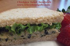 Clean Eating: Chickpea Salad Sandwich
