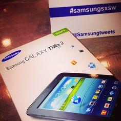 Thanks Samsung for the Galaxy Tab 2! #SamsungSXSW #SXSW