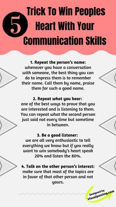 5 trick to win peoples heart with your commun Communication Skills Activities, English Communication Skills, Effective Communication Skills, Communication Relationship, English Writing Skills, Interpersonal Relationship, Relationships, Public Speaking Activities, Public Speaking Tips