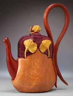 Wooden teapot/purse by Denise Nielsen and George Worthington