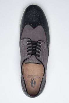 Black + Grey Oxfords / Hush Puppies