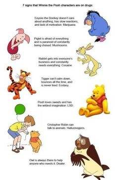 7 signs that Winnie the Pooh characters are on drugs