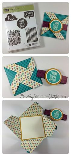 Criss Cross Fun Fold - Such a Great Use for Designer Paper!!!