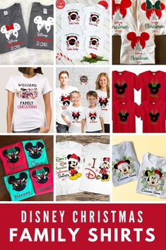 These matching Disney Christmas family shirts are perfect for your vacation or Disney cruise. Disney Vacation Shirts, Disneyland Shirts, Disney Shirts For Family, Disney Family, Family Shirts, Disney Vacations, Disney Trips, Disney Travel, Disneyland Trip