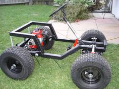 Modified Power Wheels - GAS POWERED BARBIE JEEP I'm so making one of these for my little daughter if I have one. Then I'll teach her to drift...