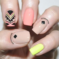 Aztec Nail Designs Ideas 89 impressive aztec nail art ideas for people who long for a Aztec Nail Designs. Here is Aztec Nail Designs Ideas for you. Aztec Nail Designs 89 impressive aztec nail art ideas for people who long for a. Aztec Nail Designs, Short Nail Designs, Nail Art Designs, Nails Design, Beige Nails, Blue Nail, Yellow Nails, Queen Nails, Tribal Nails