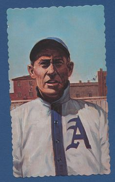 Ed Delahanty baseball 1984 RGI Hall of Famers Deckle Edge card #33