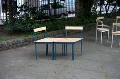 TRIANGLE CHAIRS Assemble designed and built a collection of 200 modular, three-legged chairs and stools to furnish public spaces around Clerkenwell for the duration of Clerkenwell Design Week. Stac...