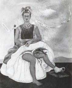 "Dibujo de Frida Kahlo (1907-1954). ""Recuerdo de la Herida Abierta"""