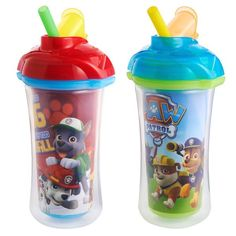 Munchkin Paw Patrol Click Lock Insulated Straw Pack capacity for water, milk or juice Insulated toddler cup keeps drinks cooler, longer Soft, flexible straw is spill-proof in both open and closed positions BPA Free, Top rack dishwasher safe months Insulated Cups, Cup With Straw, Kids Store, Baby Play, Baby Bottles, Baby Feeding, Paw Patrol, New Baby Products, Sippy Cups