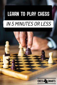 Board games 450993350186713417 - Learn to play chess in 5 minutes or less. Looking for a quick way to learn how to play chess as a beginner? Check out these tips on how to get started playing chess. Chess Logo, Chess Quotes, Chess Tactics, Chess Bars, Chess Strategies, Giant Chess, How To Play Chess, Educational Board Games, Play Therapy Techniques