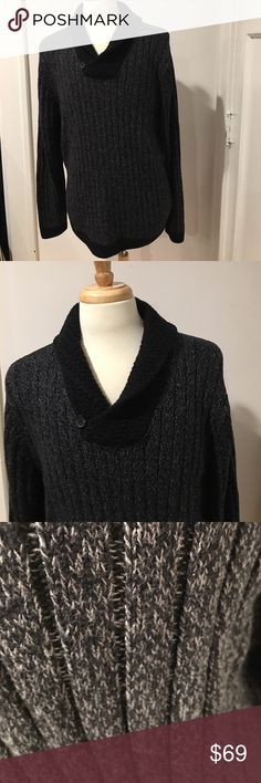 TASSO ELLA XXL BLACK GREY SWEATER MACYS TASSO ELLA  MACYS BRAND SWEATER HAS TAGS NEVER WORN NWT NEW WITH TAGS Sweaters Crewneck