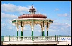 Hove bandstand (birdcage), on the seafront in East Sussex. Designed by Brighton Surveyor Phillip Lockwood and completed in 1884 Brighton And Hove, East Sussex, Small Towns, Gazebo, Maine, Survival, England, Outdoor Structures, World