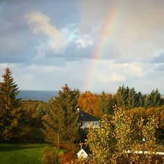Rainbow in my Window Country Roads, Windows, Celestial, Sunset, Outdoor, Norway, Outdoors, Sunsets, Outdoor Games