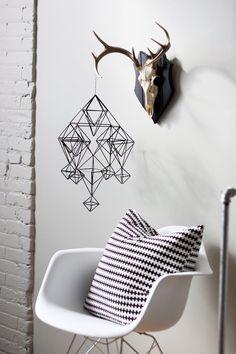 Himmeli no. 4 / Modern Hanging Mobile / Geometric by HRUSKAA