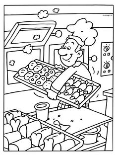 Distinctive and Artistic baker The Effective Pictures We Offer You About Coloring Pages aesthetic A quality picture can tell you many things. Animal Coloring Pages, Colouring Pages, Coloring Sheets, Adult Coloring, Coloring Books, 5 Senses Craft, Community Helpers Worksheets, Kids Food Crafts, Community Workers