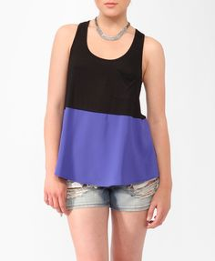 Colorblocked Racerback Tank   FOREVER21 - 2000046000