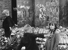 Roger Mayne,Children playing on a bomb site, Portland Road, 1958.