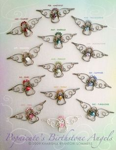 Angel Wing Earrings Argentium Silver Artisan Handmade Jewelry - 18 ga, no price listed. Wire Wrapped Jewelry, Metal Jewelry, Beaded Jewelry, Handmade Jewelry, Jewellery, Wire Crafts, Jewelry Crafts, Beaded Angels, Wire Ornaments