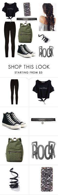 """Untitled #375"" by coutobeatriz ❤ liked on Polyvore featuring Paige Denim, Converse, Betsey Johnson, Herschel Supply Co., Steve Madden, Proenza Schouler and Vans"
