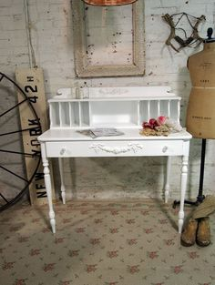 Painted Cottage Chic Shabby White Chic Romantic by paintedcottages, $325.00