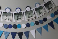 Best baby first month pictures ideas Birthday Picture Banner, Birthday Picture Displays, First Birthday Pictures, First Birthday Banners, One Year Birthday, Birthday Themes For Boys, Baby Boy 1st Birthday, Boy Birthday Parties, 12 Month Pictures