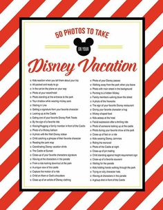 Pictures to take at Disney