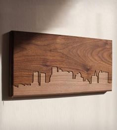 Boston Skyline Wood Art  This would be nice with Table mountain carved out