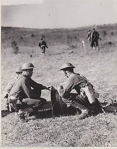 75MM BATTERY 27th DIVISION FORT McCLELLAN VINTAGE WWII MILITARY FILE PHOTO