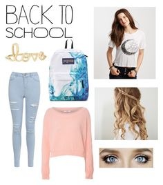 Back 2 School Outfit #8 by gracewayne on Polyvore featuring polyvore, fashion, style, Aéropostale, Glamorous, Miss Selfridge, JanSport and Sydney Evan