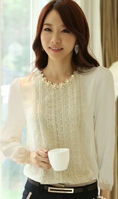 Long sleeve render Lace chiffon fashion professional women dress cute