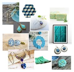 """""""Shades of Blue..."""" by artsenseboutique ❤ liked on Polyvore"""