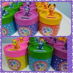 souvenirs caramelera y alcancia my little pony My Little Pony Cumpleaños, Fiesta Little Pony, Cumple My Little Pony, My Little Pony Pictures, Little Pony Birthday Party, 4th Birthday Parties, Diy And Crafts, Crafts For Kids, Origami Box