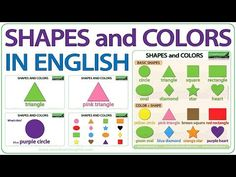 English Vocabulary - YouTube Learn English Grammar, English Vocabulary Words, English Teaching Resources, Teacher Resources, Basic Shapes, Color Shapes, Free English Lessons, Ell Students, Improve Your English