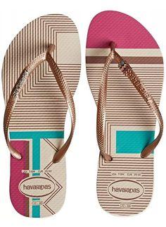 Havaianas Women's Slim Retro Sandal Flip Flop, Petunia, 41 BR/11/12 W US
