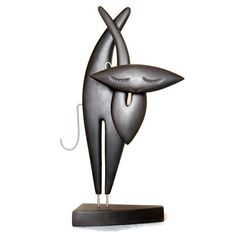 Very nice Abstract Cat statuemade with wood by GalleriaCentral, $159.00