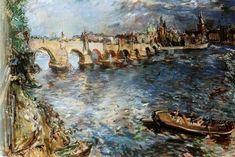 """Oskar Kokoschka, Prag """"Karlsbrücke"""""""