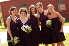 The Jersey Convertible Wrap Bridesmaid dress. I would love this for my girls so that they can all have their own style, be comfortable yet have the same colors and be able to wear their dresses again!