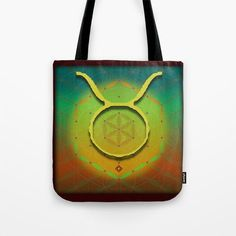TAURUS Flower of Life Astrology Design Tote Bag by debracortesedesigns Flower Of Life, My Flower, Flowers, Taurus Flower, Create Image, Poplin Fabric, Sacred Geometry, Hand Sewn, Tote Bags