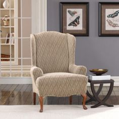 wingback chair slipcover - Wing Chair Slipcover