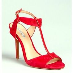 I just added this to my closet on Poshmark: #CharlesDavid Society T-Strap Sandal,Red, 7M US. Price: $65 Size: 7